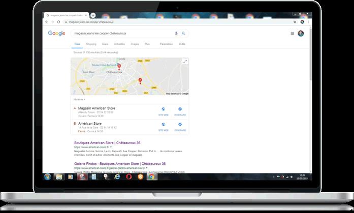 référencement naturel local google agence web buziness