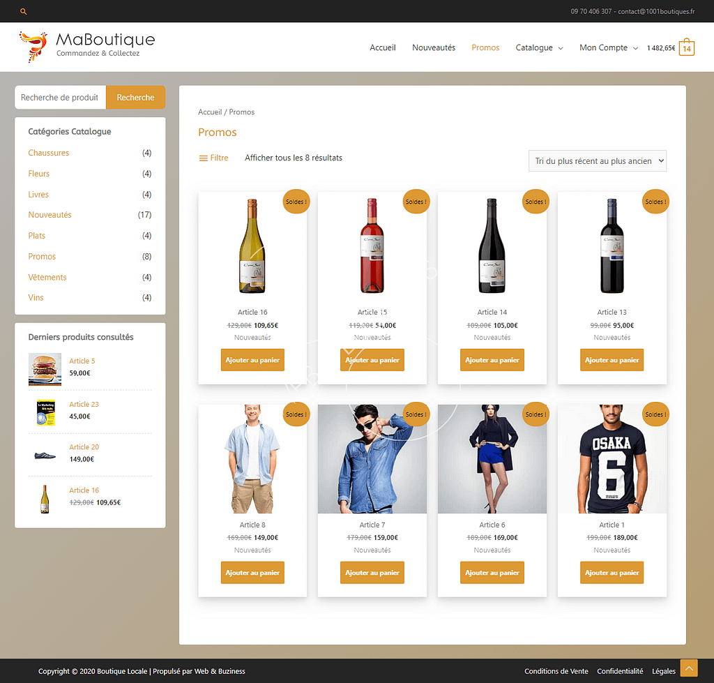 click and collect agence web buziness